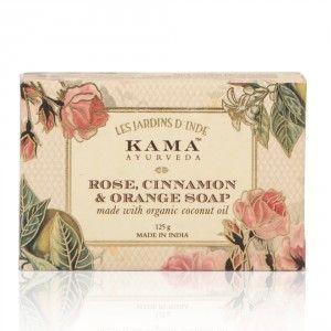 Buy Kama Ayurveda Rose, Orange & Cinnamon Soap - Nykaa