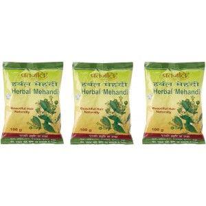 Buy Patanjali Herbal Mehandi (Pack Of 3) - Nykaa