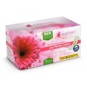 Buy Everteen 100% Natural Cotton Top Daily Panty Liners 36 Count (Unscented) - Nykaa