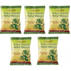 Buy Patanjali Herbal Mehandi (Pack Of 5) - Nykaa