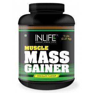 Buy INLIFE Mass Gainer Protein Powder 5 lbs, Chocolate Flavor, Muscle & Weight Gain - Nykaa