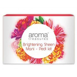 Buy Aroma Treasure Brightening Sheen Mani - Pedi Kit - Single Time - Nykaa