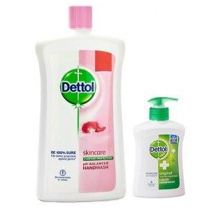Buy Dettol Skincare pH-Balanced Handwash (900 ml) + Free Original Liquid Handwash Pump (200ml) - Nykaa
