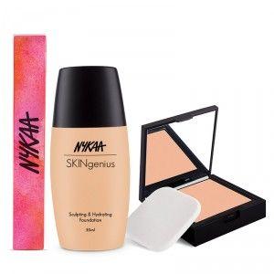 Buy Nykaa Warm Tones Foundation + Compact Combo - Nykaa