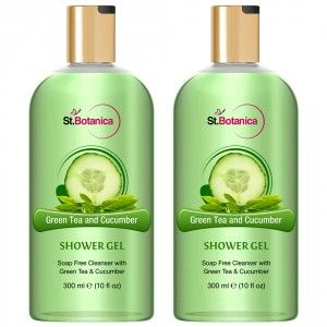 Buy St.Botanica Green Tea and Cucumber Luxury Shower Gel (Pack of 2) - Nykaa
