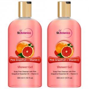 Buy St.Botanica Pink Grapefruit & Vitamin C Luxury Shower Gel (Pack of 2) - Nykaa