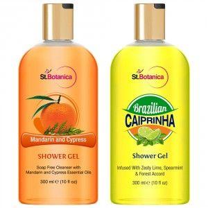 Buy St.Botanica Brazilian Caiprinha Shower Gel + Mandarin & Cypress Luxury Shower Gel - Nykaa