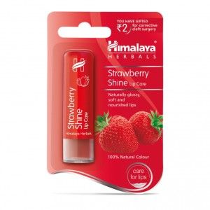 Buy Himalaya Herbals Strawberry Shine Lip Balm - Nykaa
