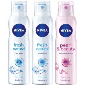 Buy Nivea Buy 2 Fresh Natural Deos & Get 1 Pearl & Beauty Deo Free - Nykaa