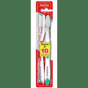 Buy DentoShine Super Slim Bristles Soft Toothbrush - 2 Pieces - Nykaa