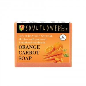 Buy Soulflower Orange Carrot Soap - Nykaa