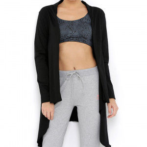 Buy Tuna London Black Color Cotton Shrug For Women (Free Size) - Nykaa