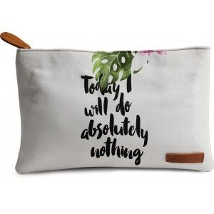 Buy DailyObjects Today I Will Do Nothing Carry-All Pouch Medium - Nykaa