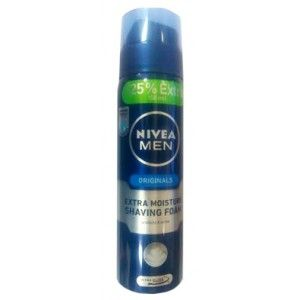Buy Nivea Men Originals Extra Moisture Shaving Foam + 25% Extra - Nykaa