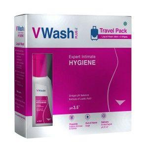 Buy VWash Plus Liquid Wash 20ml + 5 Wipes Expert Intimate HYGIENE Ph 3.5 - Nykaa
