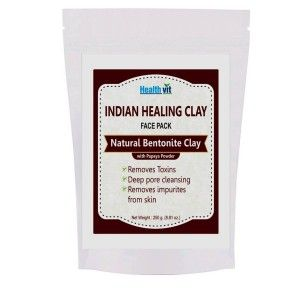 Buy HealthVit Indian Healing Clay Bentonite Clay With Pappaya Powder - Nykaa