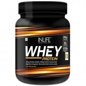 Buy INLIFE Whey Protein Powder 1 lbs(Vanilla Flavour) Body Building Supplement - Nykaa