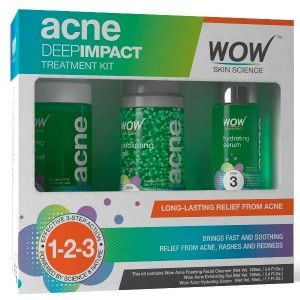 Buy WOW Acne Deep Impact Treatment  Kit - Nykaa