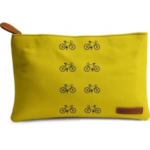 Buy DailyObjects Yellow Cycle Carry-All Pouch Medium - Nykaa