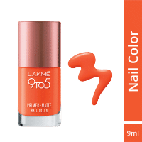 Lakme 9 to 5 Primer + Matte Nail Color - Coral