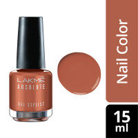 Lakme Absolute Gel Stylist Nail Polish - Tawny Brown