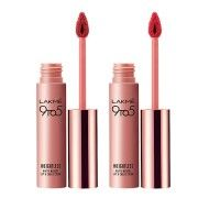 Lakme 9 to 5 Weightless Matte Mousse Lip & Cheek Color - Pink Plush + Crimson Silk