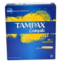Tampax Compak Regular Pack Of 8