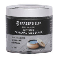 Barber's Club 100% Natural Activated Charcoal Face Scrub