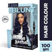 BBLUNT Salon Secret High Shine Creme Hair Colour - Blueberry Blue Black 2.10 (Off Rs.26)