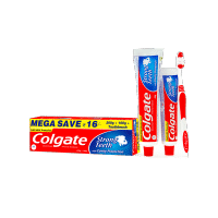 Colgate Dental Cream Anti-Cavity Toothpaste For Strong Teeth 300gm + Free Toothbrush (Mega Save Rs.16)