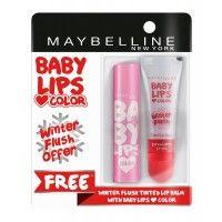 Buy 1 Maybelline New York Baby Lips Color Balm - Pink Lolita & Get 1 Winter Flush Lip Balm Free