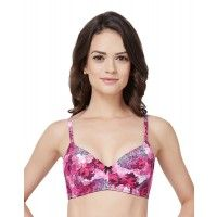 Amante Pink Printed Padded Non-Wired Bra