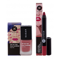SUGAR Tip Tac Toe Nail Lacquer + Matte As Hell Crayon Lipstick - Holly Golightly (Nude) Value Set