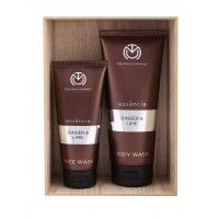 The Man Company Ginger & Lime Face Wash & Body Wash - Set Of 2
