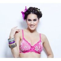 Enamor Plunge Underwired Non Padded Bra - Cheetha Lilly