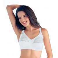 Enamor Full Coverage Non-Padded Wirefree Adjustable Strap Bra - White