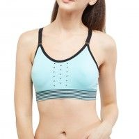 Blush By Prettysecrets Cross Back Sports Bra - Blue