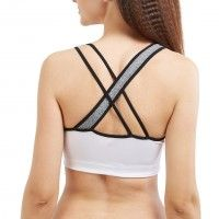 Blush By Prettysecrets Cross Back Sports Bra - White