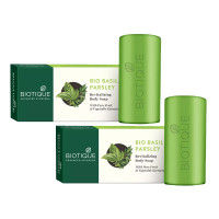 Biotique Basil And Parsley Revitalizing Body Soap - Pack of 2