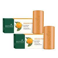 Biotique Orange Peel  Body Revitalizing Body Soap - Pack of 2