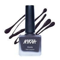 Nykaa Matte Nail Enamel - Black Cherry Pie
