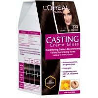L'Oreal Paris Casting Creme Gloss Hair Color - 323 Sonam's Dark Chocolate (Save Rs.80)