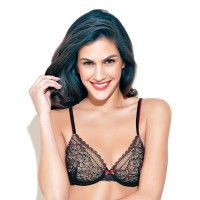 Enamor Padded Medium Coverage Bra - Black