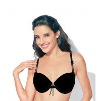 Enamor Balconette Padded Underwired T-Shirt Bra - Black