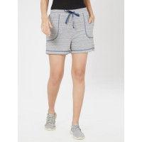 Mystere Paris Knit Textured Sports Shorts - Grey