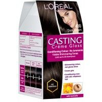 L'Oreal Paris Casting Creme Gloss Conditioning Hair Color - 400 Dark Brown (Save Rs.80)