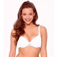 Enamor Underwired Padded Seamless T-Shirt Bra - White