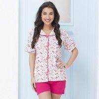 Clovia Cotton Floral Print Top & Shorts Set - Multi-Color