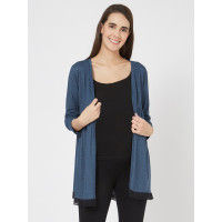 Mystere Paris Maternity Knitted Cardigan - Blue