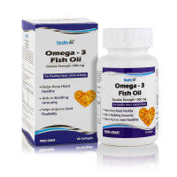 HealthVit Omega-3 Fish Oil Double Strength 1000mg 60 Softgels